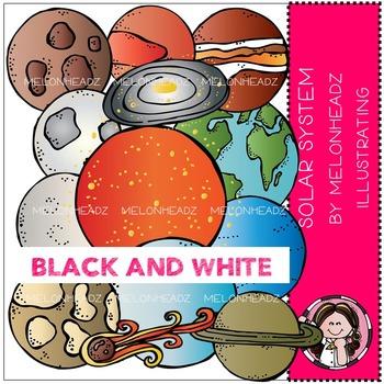 Solar System by Melonheadz BLACK AND WHITE