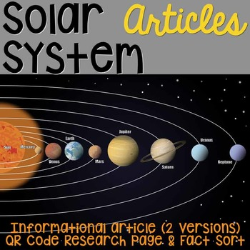 Solar Sytem: Informational Article, QR Code Research Page