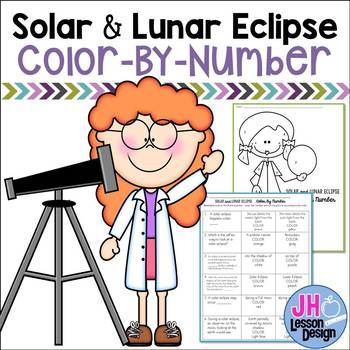 Solar and Lunar Eclipse Color-By-Number
