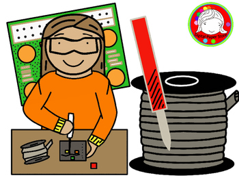 Soldering Kids Clipart (Personal & Commercial Use)