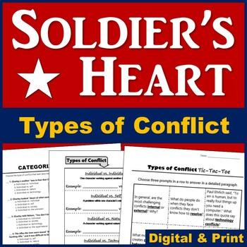 Soldier's Heart Conflict Activities - Plus Writing Prompts!