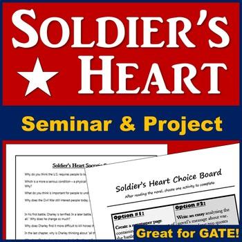 Soldier's Heart Socratic Seminar (Plus Choice Board)