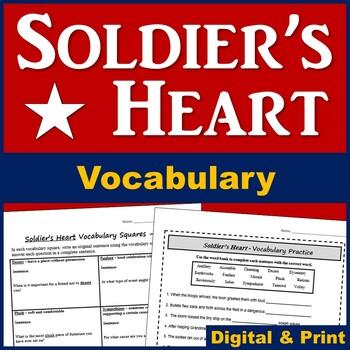 Soldier's Heart Novel Vocabulary (Plus Worksheet)