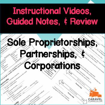 Sole Proprietorships, Partnerships, & Corporations Instruc