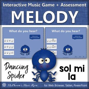 Solfa Sol Mi La - Dancing Spider {Interactive Music Game &