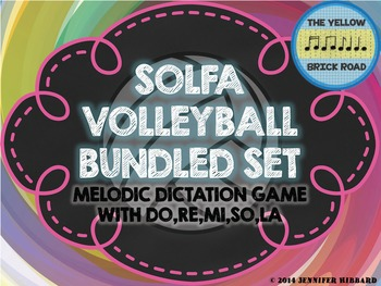 Solfa Volleyball Bundled Set: melodic dictation game with