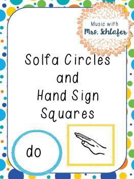 Solfa circles and Hand Sign Squares