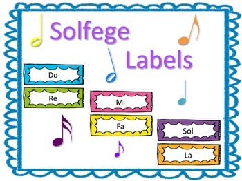 Solfege Labels for Music Classroom Decor or Bulletin Board