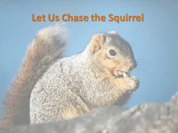 Solfege visual for Let Us Chase the Squirrel