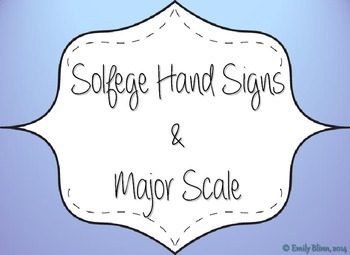 Solfege/Major Scale Hand Signs Anchor Chart