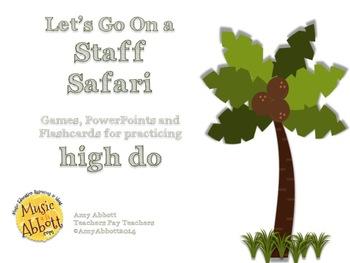 Solfége Staff Safari: high do