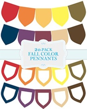 """Solid Fall Color Pennants - 20-Pack - 8.5"""" x 11"""""""