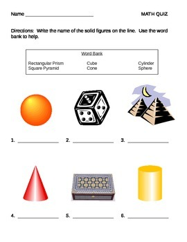 Solid Figures and Angles QUIZ
