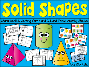 Solid Shapes Booklet, Pocket Chart Cards, and Cut and Past