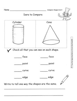Solid Shapes Name Sort Describe Compare Analyze Common Cor