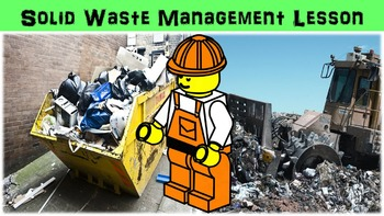 Solid Waste Management Lesson with Power Point, Worksheet,