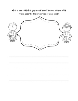 Solids Writing/Drawing Activity