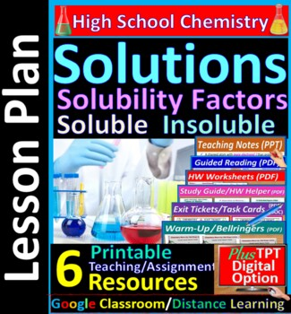 Solubility Factors and Guidelines -  Guided Study Notes fo