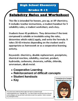 Worksheets Solubility Rules Worksheet solubility rules worksheet sharebrowse worksheet