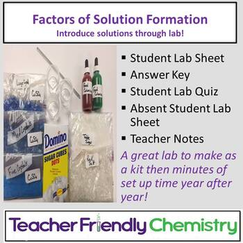 Chemistry Lab: Solution Formation