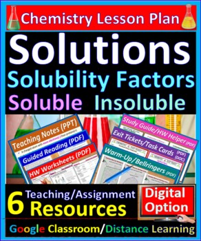 Solution Solubility Factors and Guidelines - Worksheets &