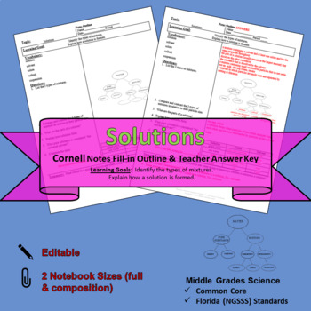 Solutions Cornell Notes #41