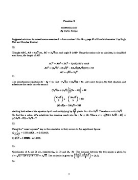 Solutions for miscellaneous exercises 2 page 30 of Pure Ma
