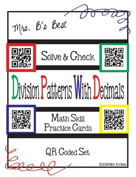 Solve & Check with QR Codes: Division Patterns with Decimals