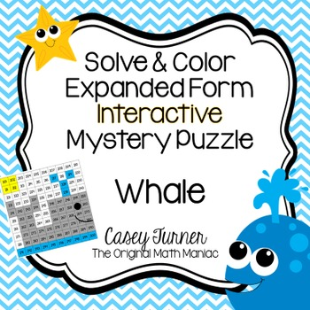 Solve & Color 10 More/10 Less Interactive Math Puzzle Numb