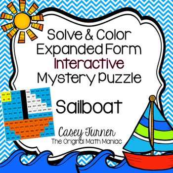 Solve & Color Expanded Form Interactive Math Picture Numbe