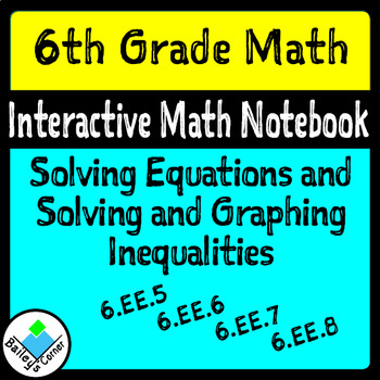 Solve Equations and Graphing Inequalities Foldable for Int