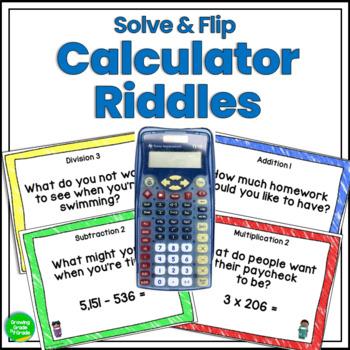 Math Number Sense Calculator Solve & Flip Riddles