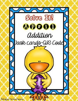 Solve It! April Addition Task Cards