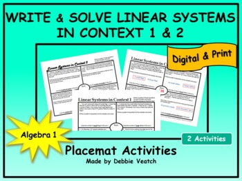 Solve Linear Systems In Context 1 & 2 (2 similar items & 2