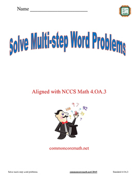 Solve Multi-Step Word Problems Practice Packet - 4.OA.3