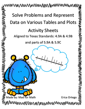 Solve Problems with Data from Tables and Plots Activity Sh