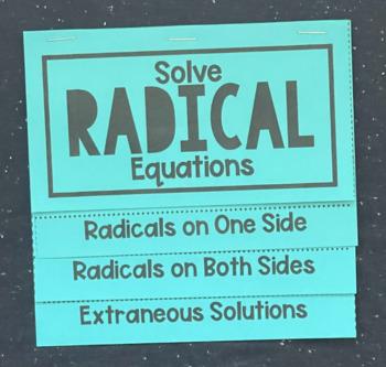 Solve Radical Equations (Foldable)