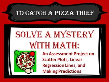 Solve a Mystery With Math:  Assessment Project Scatter Plo