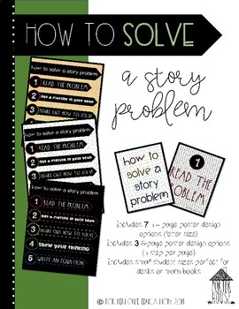 """Investigations Math aligned """"Solve a Story Problem"""" Posters"""