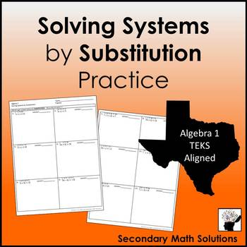 Solving Systems by Substitution Practice