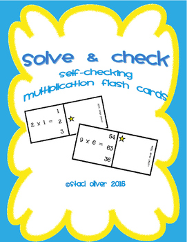Solve and Check Multiplication Flashcards