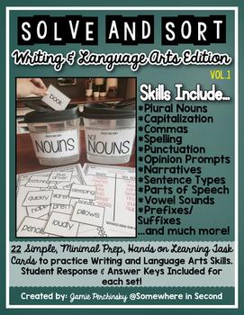 Solve and Sort ELA: 22 Writing and Language Skills for Stu