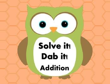 Solve it!  Dab it! Addition
