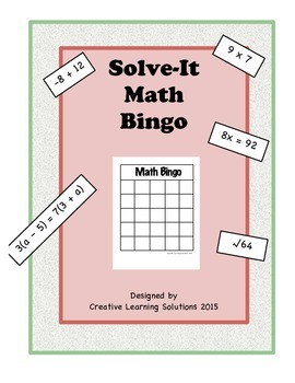 Solve-it Math Bingo Review Game