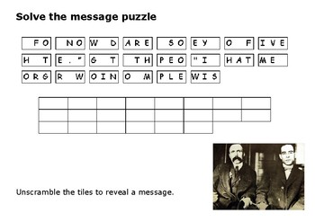 Solve the message puzzle Sacco and Vanzetti