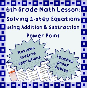 Solving 1-step equations using addition or subtraction - A