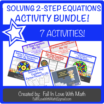 Solving 2-Step Equations Activity Bundle!