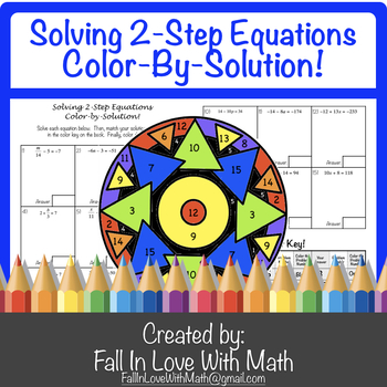 Solving 2-Step Equations Color-By-Number!