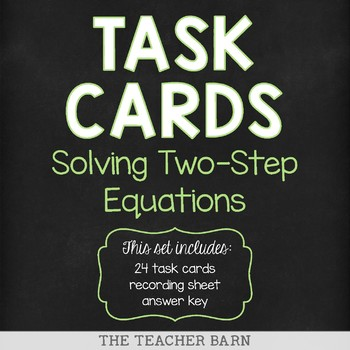 Solving Two-Step Equations Task Cards