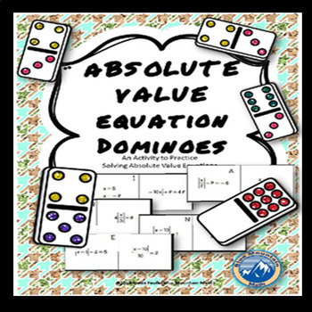 Solving Absolute Value Equation Domino Set